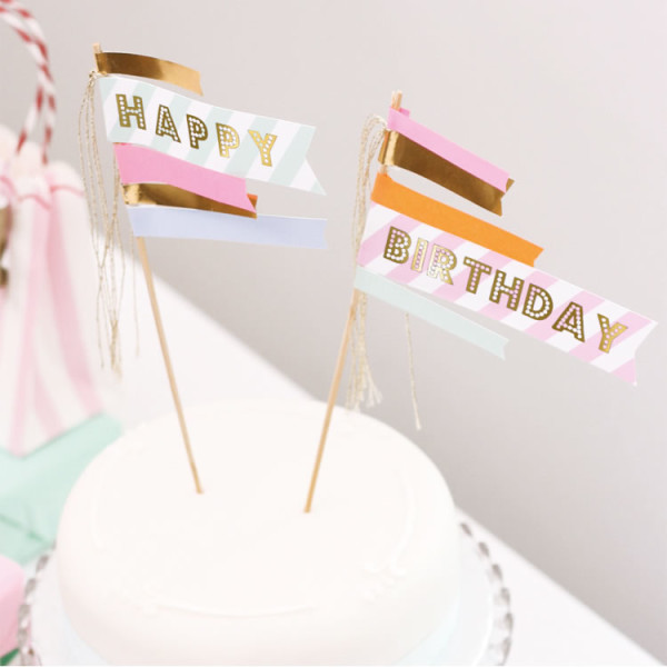 Mottobox Pastel Cake Topper