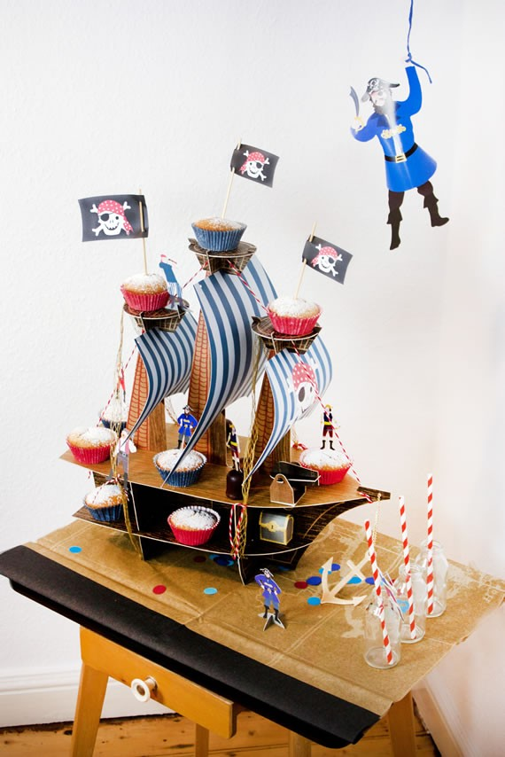 Piratenschiff Tischdekoration