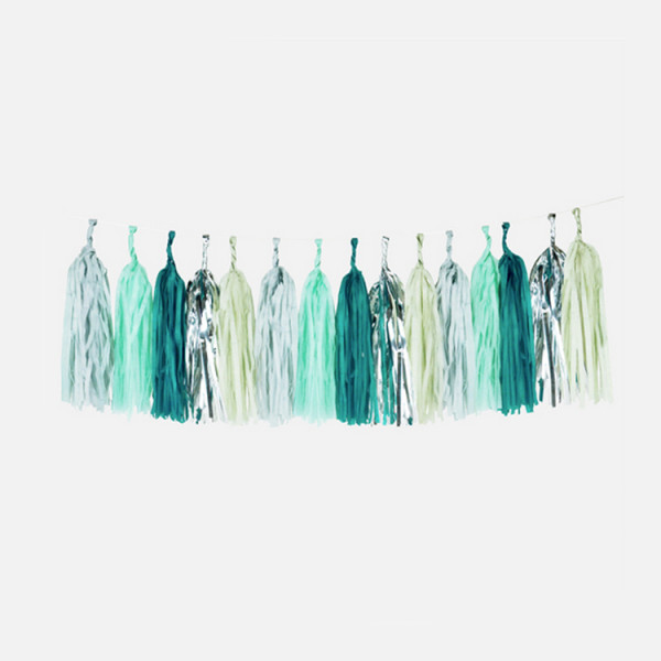 Mottobox Mint Party Tassel Girlande